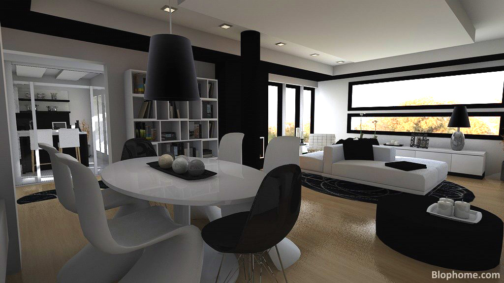 El color comunica negro y blanco black and white - Decoracion salon blanco y negro ...