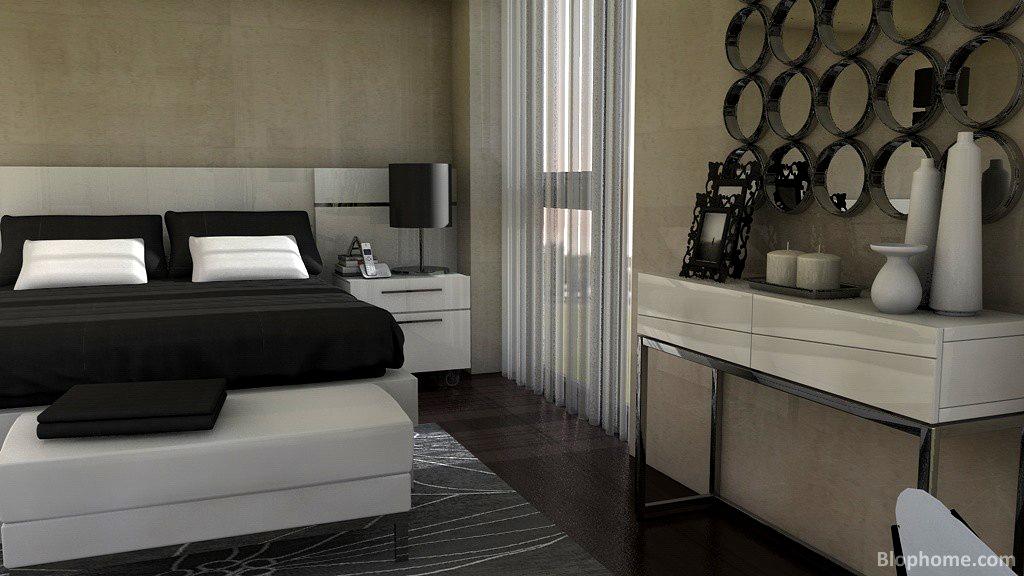 Un dormitorio en suite