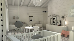 Nordic children's bedroom in black and White by ONA