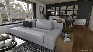 Un salón. ¿Cuadrado o rectangular?