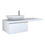 PALOMBA COLLECTION, Washtop 1300mm, with 1 drawer element 650mm with 1 drawer
