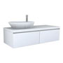 PALOMBA COLLECTION, Washtop 1300mm, with 2 drawer elements 650mm with 1 drawer