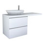 PALOMBA COLLECTION, Washtop 1300mm, with 1 drawer element 650mm with 2 drawers
