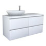 PALOMBA COLLECTION, Washtop 1300mm, with 2 drawer elements 650mm with 2 drawers